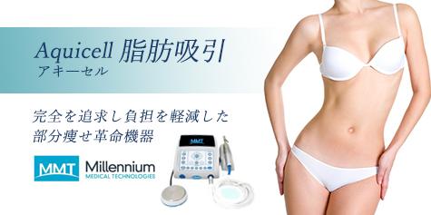 東京銀座のレティシアクリニック Aquicell(アキーセル)脂肪吸引